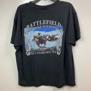 Vintage Harley Davidson shirt mens xl BATTLEFIELD